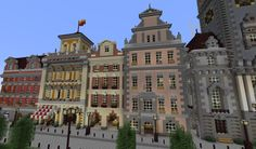 Minecraft City Buildings, Modern Minecraft Houses, Minecraft Structures, Minecraft Houses Blueprints, Minecraft House Designs, Minecraft Architecture, Minecraft Creations, Minecraft Crafts, Minecraft Ideas