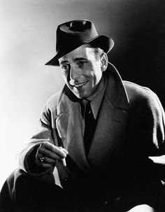 A smiling Bogie, something you don't see very often