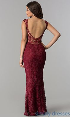 Lace long prom dress with illusion back βραδινά φορέματα Black Prom Dresses, Lace Bridesmaid Dresses, Lace Dresses, Formal Dresses For Weddings, Formal Evening Dresses, Evening Gowns, Long Lace Skirt, Dress Long, Illusion