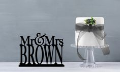 Mr and Mrs Table Sign, Mr and Mrs Table Stand, Wedding name table sign, custom table sign, large mr and mrs name sign (T198) by ChicagoFactoryDesign on Etsy https://www.etsy.com/listing/398580457/mr-and-mrs-table-sign-mr-and-mrs-table