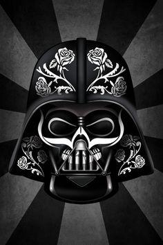 I love this  Darth Vader meets Dia de los Muertos hybrid artwork from Blue Horizon Prints https://www.bluehorizonprints.com.au/canvas-art/star-wars-art/2/