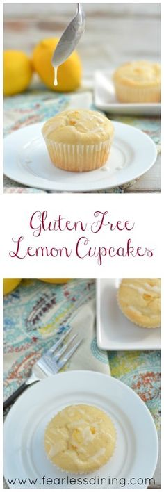 Gluten Free Lemon Cupcakes http://www.fearlessdining.com