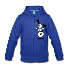 Dancing snowman kid's premium hoodie. #snow #winter #snowman #hoodie #Spreadshirt #Cardvibes #Tekenaartje #SOLD