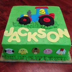Farmer themed birthday cake