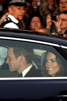 The Duke and Duchess of Cambridge heading to their evening wedding reception