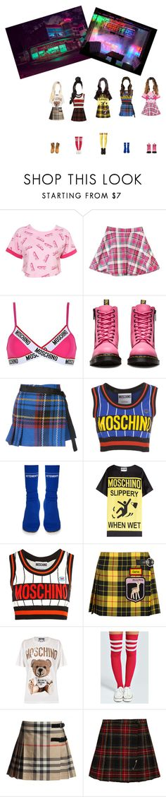 """""""music video"""" by vicarausch on Polyvore featuring Mode, GET LOST, Moschino, Dr. Martens, Sacai, Vetements, Miu Miu, Boohoo, Yves Saint Laurent und Timberland"""