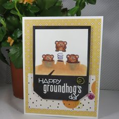 Super Stick Chick: Happy Groundhog's Day Card