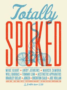 Totally spoked poster