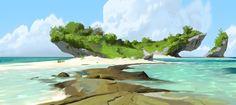 disney-moana-concept-art-visual-development-ryan-lang-beach-002.jpg (700×312)