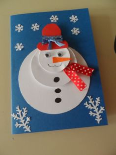 Ideas Diy Kids Winter Crafts Snowman For 2019 Diy Christmas Cards, Christmas Activities, Christmas Crafts For Kids, Xmas Cards, Kids Christmas, Holiday Crafts, Christmas Decorations, Christmas Gifts, Christmas Snowman