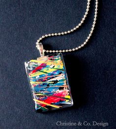 Graffiti Inspired and Totally Abstract Pendant/ Handbag Charm by ChristineandCodesign, $20.00