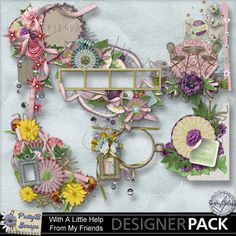 With A Little Help From My Friends Clusters-(PattyB) #pattybscraps #mymemories #digitalscrapbooking