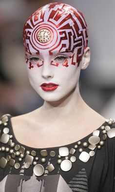 Britain Fashion Week - Manish Arora..  what?? interesting costume idea tho..