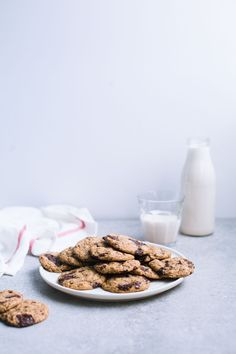 Oatmeal Chocolate Chip Sea Salt Cookies (Vegan + Gluten-Free) from the Greenhouse Cookbook - The Green Life