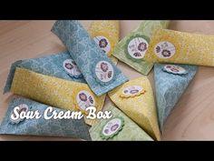 Tutorial - Verpackung für Kleinigkeiten - Sour Cream Box - YouTube