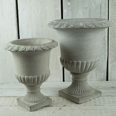 Stone urn containers
