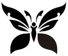 Скачать бесплатно трафарет бабочки для росписи