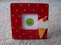 Ice cream cone frame - $16