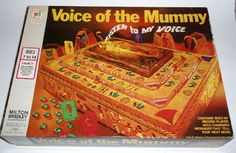 Voice of the mummy game 1971 Old Board Games, Vintage Board Games, 1960s Toys, Gaming Station, Milton Bradley, Retro Halloween, Some Games, Traditional Games, Games
