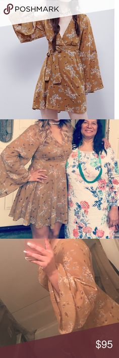 Free people floral boho chic dress Very beautiful dress NWT wore for 4 hours tops yesterday for mother day! Deciding to finally sell bc I have too many similar dresses getting new start :) Free People Dresses Midi