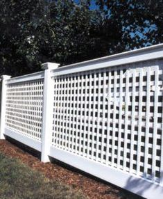 white vinyl lattice fencing chester style by atlas outdoor ct