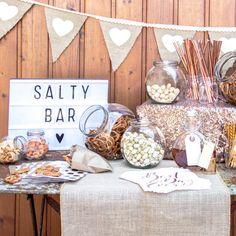 Saltybar, Pizza-Bar und Whiskeybar sind elegante und außergewöhnliche Alternativen zur geliebten Candybar. Hier gibt es Tipps und Tricks zur Gestaltung.