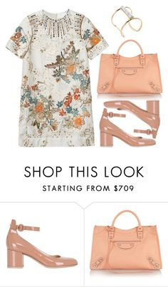 """Untitled #4947"" by prettyorchid22 ❤ liked on Polyvore featuring Gianvito Rossi, H&M, Balenciaga and Soo Ihn Kim"