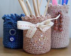 Simple Crochet Jar Covers | Craftsy