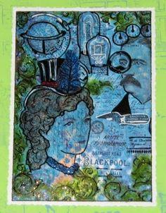 Blue Post Card/Mail Art