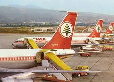 Lebanon ❤🌲❤ Airplane, sky and outdoor Boeing 720, Middle East Airlines, B720, Passenger Aircraft, Airline Flights, Vintage Air, Civil Aviation, Cabin Design, Air Travel