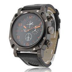 4045e46c134 Relógio Esportivo PC Quartz com Bracelete de Pele PU – BRL R  22