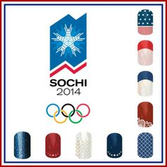 Get your special 2014 Olympic nails for the upcoming Olympics that are coming this month. http://jamberrynails.net/