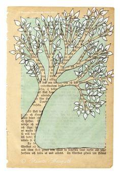 Tree Archival print from norwegian artist Annettea door carambatack