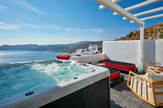 Your private whirlpool at Myconian Avaton, Mykonos, Greece
