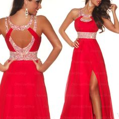 Sexy red prom dresses, red prom dress, chiffon prom dress, dresses for prom, 2016 prom dress