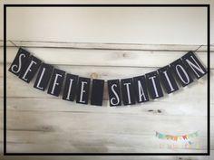 Selfie Station Banner Photobooth Banner Wedding by ALittleBitOfAud