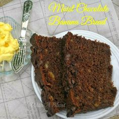 Moist Chocolate Banana Bread is an everyday winner for dessert, as a tea time treat - perfect to use up your over ripe bananas and create a decadent chocolaty treat Just Desserts, Delicious Desserts, Dessert Recipes, Yummy Food, Scone Recipes, Bread Recipes, Easy Banana Bread, Chocolate Banana Bread, Bread Cake