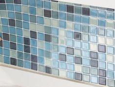 "Blue Mosaic Kitchen Bath Backsplash Tile Set 6 Epoxy Plastic 10""Sq NEW C3459 in Home & Garden,Home Décor,Tile Art | eBay"