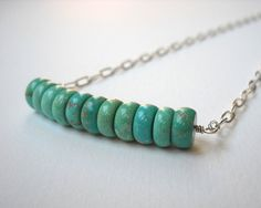 Hey, I found this really awesome Etsy listing at https://www.etsy.com/listing/76418104/turquoise-bar-necklace-sterling-silver