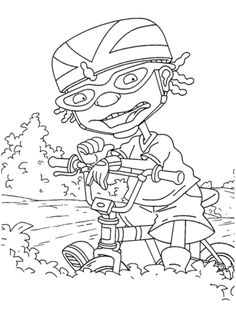 static shock coloring pages | 7 Best Rocket power images | Rocket power, Free printable ...