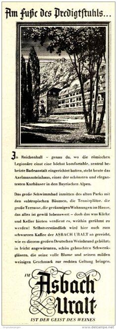 Original-Werbung/ Anzeige 1951 - AM FUSSE DES PREDIGTSTUHLS / ASBACH URALT - ca. 65 X 200 mm