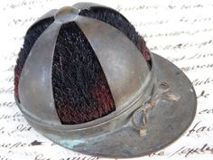 Victorian Equestrian Cap Inkwell Pen Wipe Antique by exploremag, $95.00