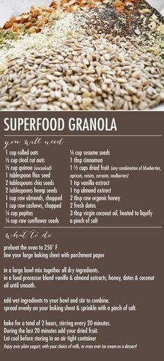 Mom Monday {Superfood Granola} - Wiley Valentine