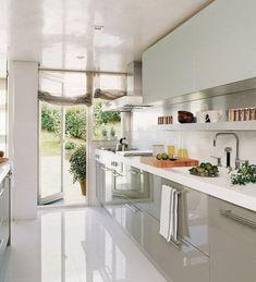 Galley Kitchen Remodel Ideas (Small Galley Kitchen Design, Makeovers, and Plans) Galley Kitchen Design, Galley Kitchen Remodel, New Kitchen, Kitchen Dining, Kitchen Decor, Kitchen Ideas, Island Kitchen, Awesome Kitchen, Kitchen Modern