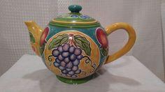 Teapot Collectible Carlotte Gilbert design 2002 Henriksen Imports LES JARDINS DE