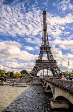 Eiffel Tower on River