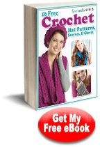 16 Free Crochet Hat Patterns, Scarves and Gloves eBook