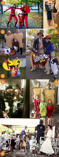 awesome family halloween costumes.  I can't wait to dress my kids up like oompa loompas!