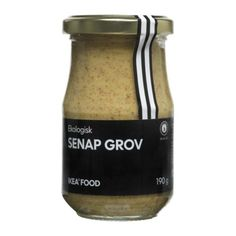 IKEA - SENAP GROV, Whole-grain mustard, Mustard seeds, mixed with vinegar, salt, sugar, etc. Serve with hot dogs or as added flavor to sauces or dressings.