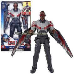 Hasbro Year 2015 Marvel Captain America - Civil War Titan Hero Series 12 Inch Tall Electronic Action Figure - MARVEL'S FALCON with Detachable Wings and Sounds